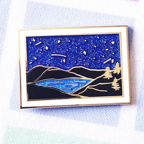 The Gray Muse THE NIGHT SKY Enamel Pin tgm-j19-p36 Preview Image