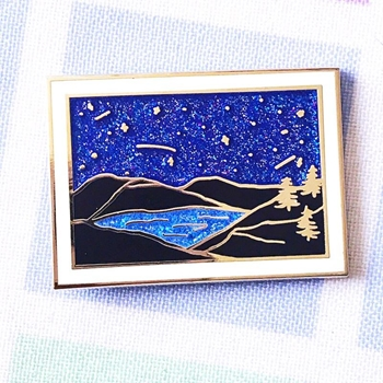 The Gray Muse THE NIGHT SKY Enamel Pin tgm-j19-p36