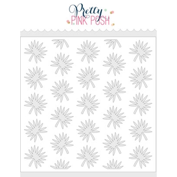 Pretty Pink Posh TROPICAL LEAVES Stencil