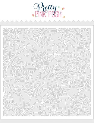 Pretty Pink Posh TROPICAL BACKGROUND Stencil  Preview Image