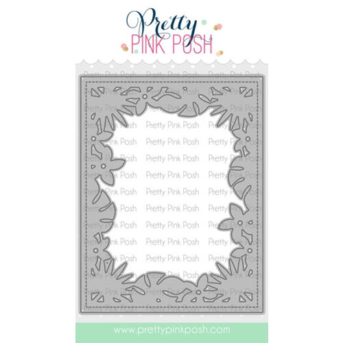 Pretty Pink Posh TROPICAL FRAME Die Preview Image