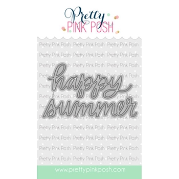 Pretty Pink Posh HAPPY SUMMER SCRIPT Die