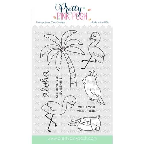 Pretty Pink Posh TROPICAL BIRDS Clear Stamps Preview Image