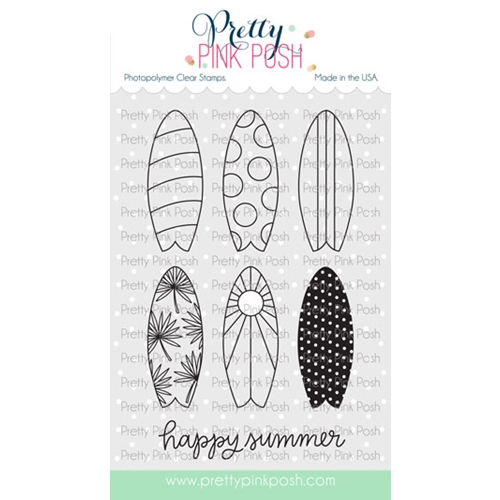 Pretty Pink Posh SUMMER SURFBOARDS Clear Stamps Preview Image