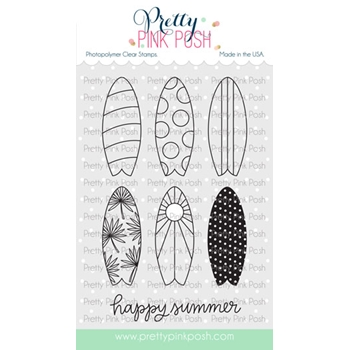 Pretty Pink Posh SUMMER SURFBOARDS Clear Stamps