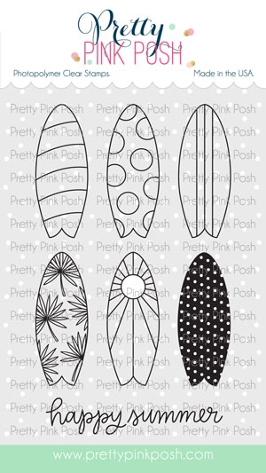 Pretty Pink Posh SUMMER SURFBOARDS Clear Stamps zoom image