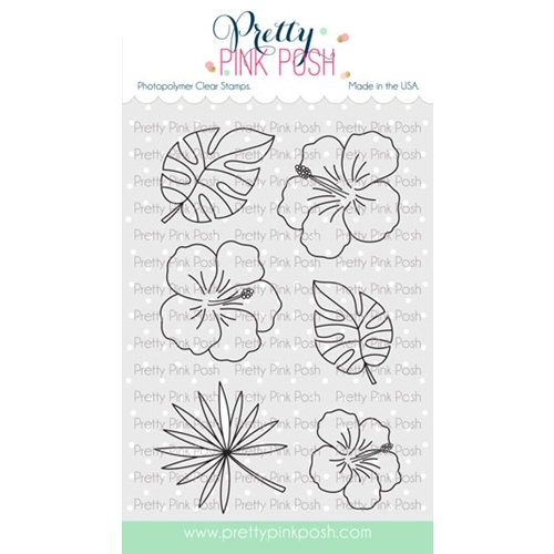 Pretty Pink Posh HIBISCUS FLOWERS Clear Stamps Preview Image