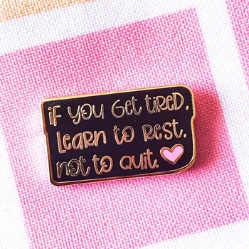 The Gray Muse LEARN TO REST Enamel Pin tgm-j19-p22