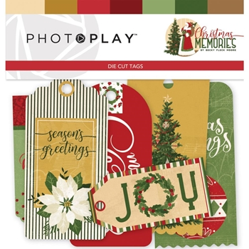 PhotoPlay CHRISTMAS MEMORIES Die Cut Tags cmr9493