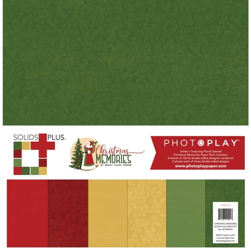 PhotoPlay CHRISTMAS MEMORIES 12 x 12 Solids Pack cmr9501 Preview Image