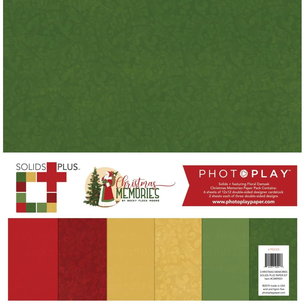 PhotoPlay CHRISTMAS MEMORIES 12 x 12 Solids Pack cmr9501 zoom image