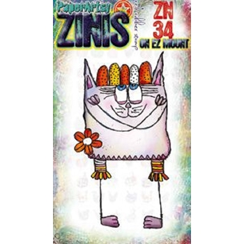 Paper Artsy ZINI 34 Maxi Mini Cling Stamp zn34