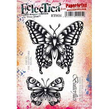 Paper Artsy ECLECTICA3 TRACY SCOTT 26 Cling Stamps ets26
