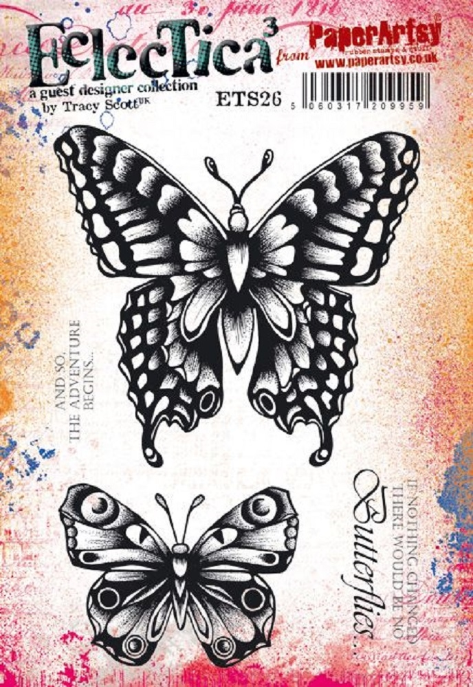 Paper Artsy ECLECTICA3 TRACY SCOTT 26 Cling Stamps ets26 zoom image