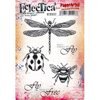 Paper Artsy ECLECTICA3 TRACY SCOTT 27 Cling Stamps ets27