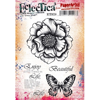 Paper Artsy ECLECTICA3 TRACY SCOTT 28 Cling Stamps ets28