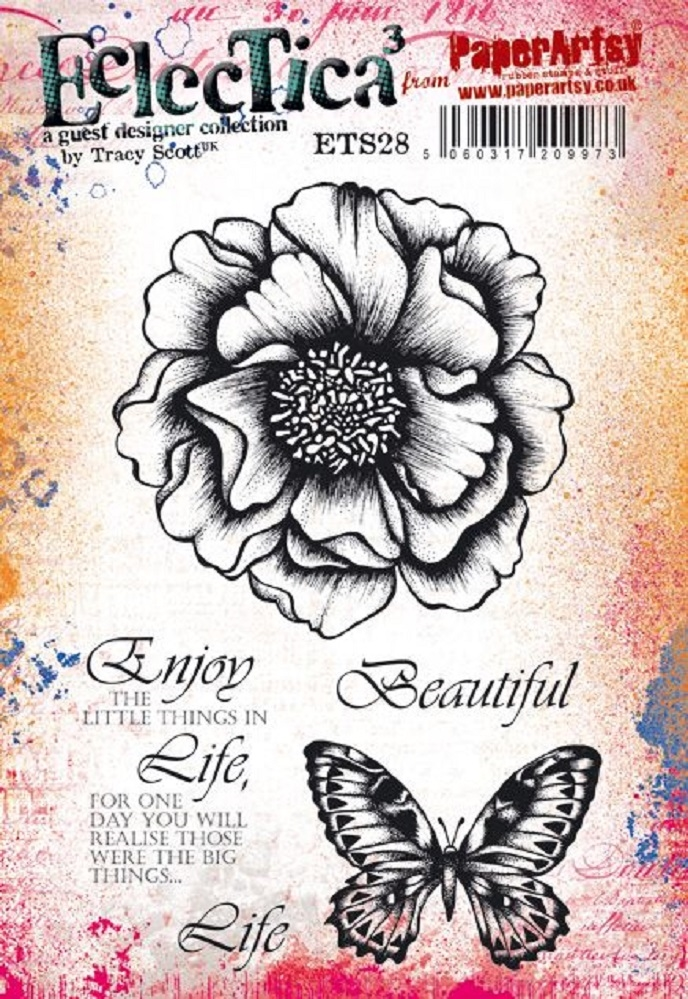 Paper Artsy ECLECTICA3 TRACY SCOTT 28 Cling Stamps ets28 zoom image