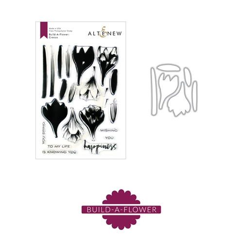 Altenew BUILD A FLOWER CROCUS Clear Stamp and Die Set ALT3318 Preview Image