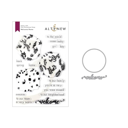 Altenew WELCOME HOME Clear Stamp and Die Bundle ALT3342 Preview Image