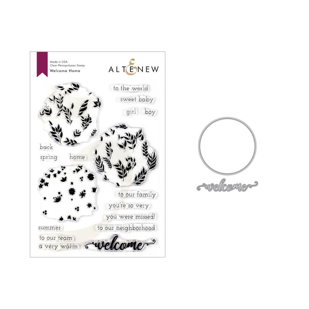 Altenew WELCOME HOME Clear Stamp and Die Bundle ALT3342 zoom image