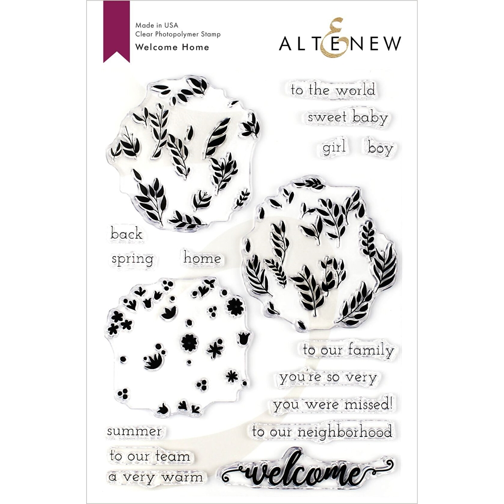 Altenew WELCOME HOME Clear Stamps ALT3340 zoom image