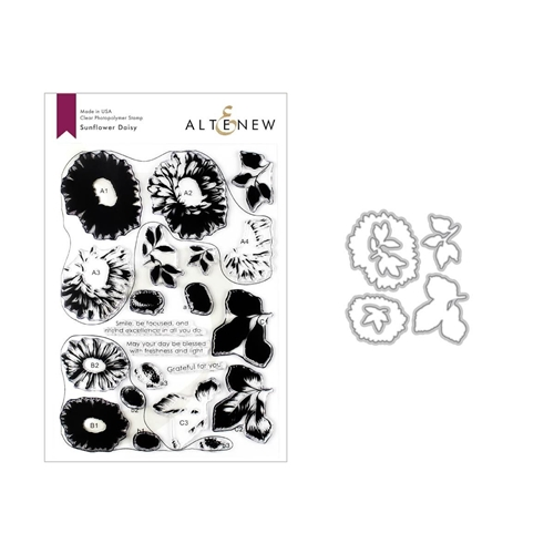 Altenew SUNFLOWER DAISY Clear Stamp and Die Bundle ALT3338 Preview Image