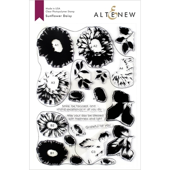 Altenew SUNFLOWER DAISY Clear Stamps ALT3335