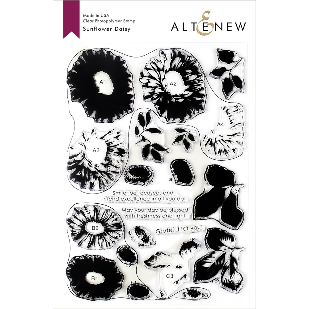 Altenew SUNFLOWER DAISY Clear Stamps ALT3335 zoom image