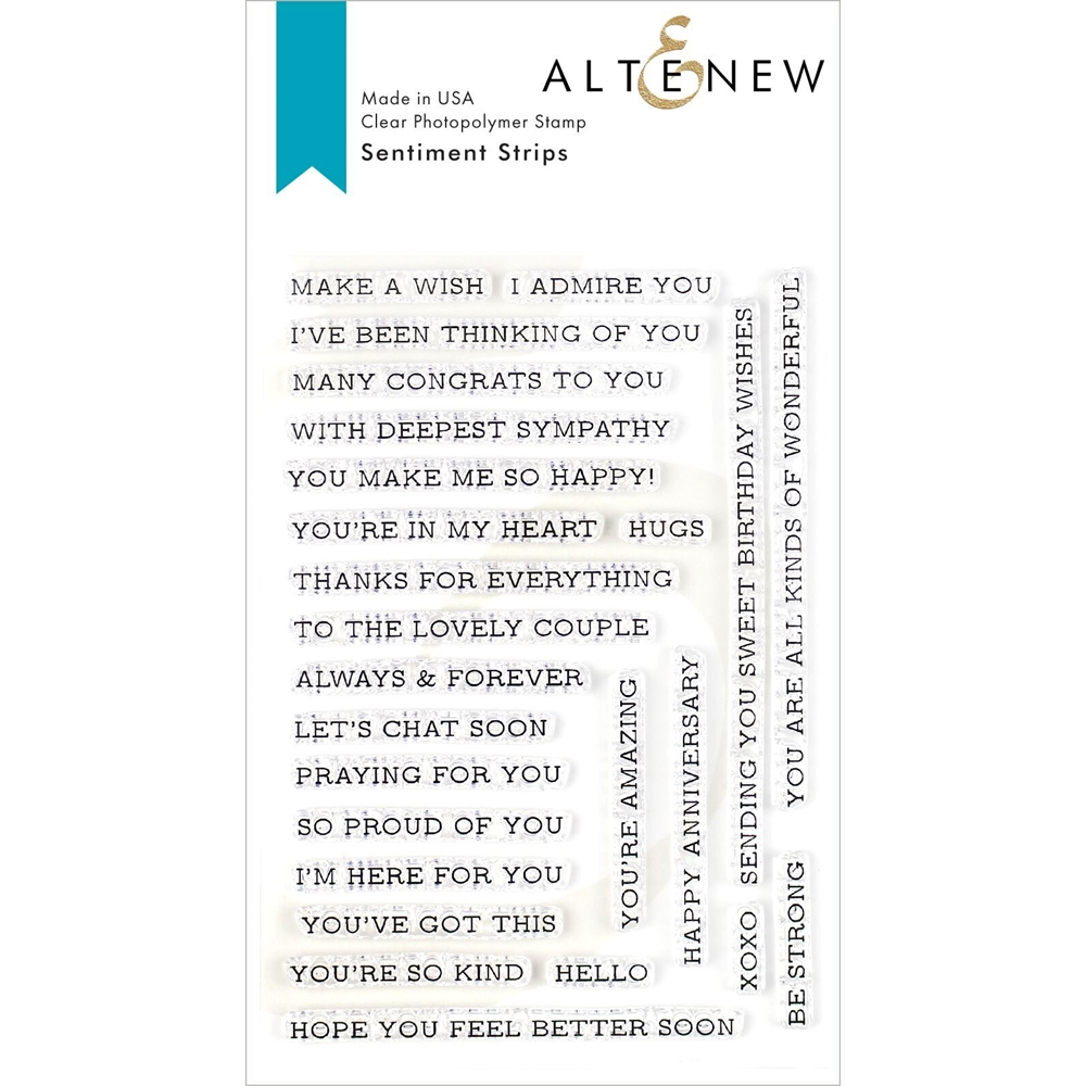 Altenew SENTIMENT STRIPS Clear Stamps ALT3334 zoom image