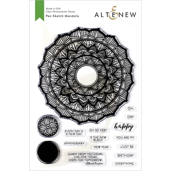 Altenew PEN SKETCH MANDALA Clear Stamps ALT3333