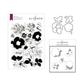 Altenew PEACEFUL REVERIE Clear Stamp, Die and Stencil Bundle ALT3332