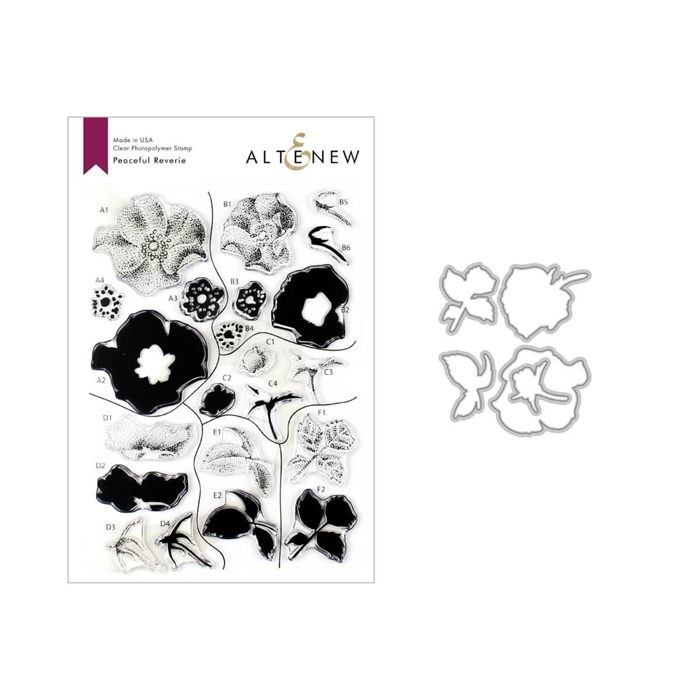 Altenew PEACEFUL REVERIE Clear Stamp and Die Bundle ALT3331 zoom image