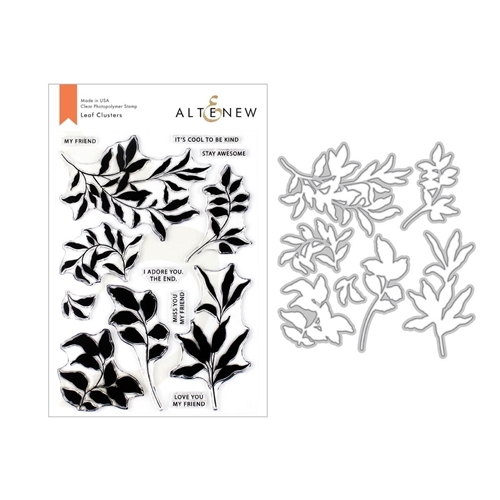 Altenew LEAF CLUSTERS Clear Stamp and Die Bundle ALT3325 Preview Image