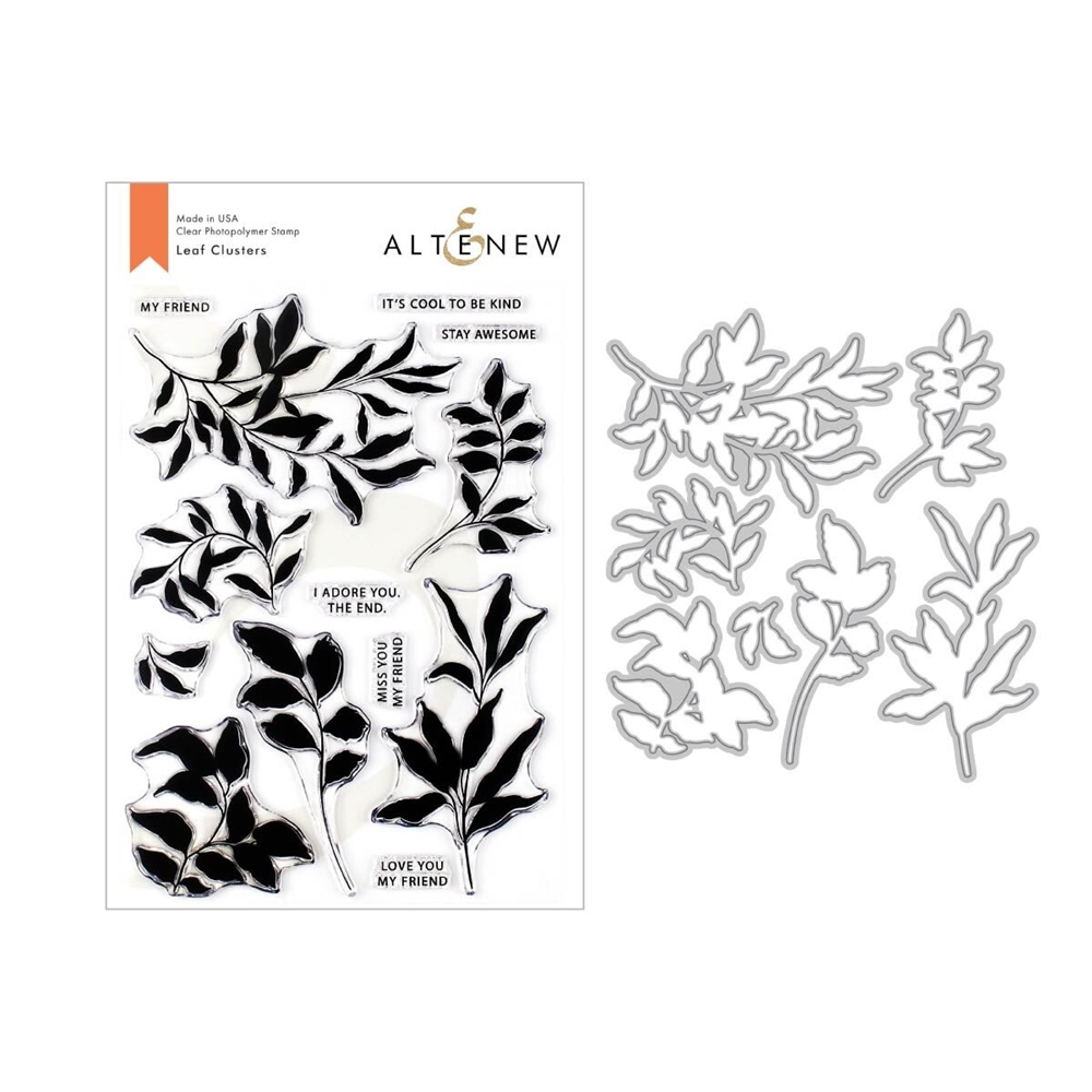 Altenew LEAF CLUSTERS Clear Stamp and Die Bundle ALT3325 zoom image