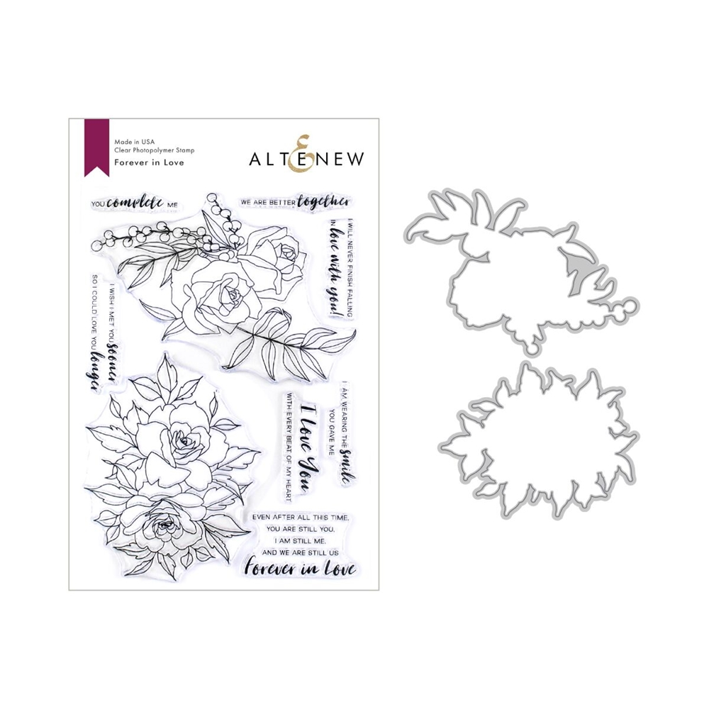 Altenew FOREVER IN LOVE Clear Stamp and Die Bundle ALT3322 zoom image