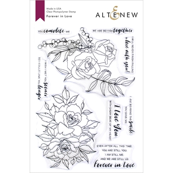 Altenew FOREVER IN LOVE Clear Stamps ALT3320