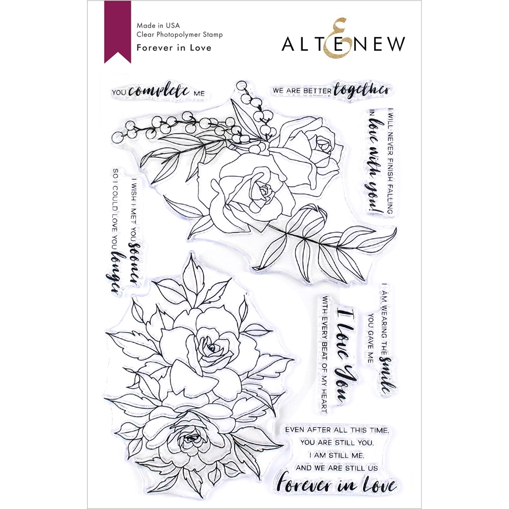 Altenew FOREVER IN LOVE Clear Stamps ALT3320 zoom image