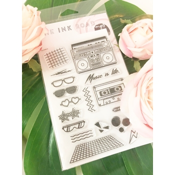 The Ink Road BOOMBOX Clear Stamp Set inkr085