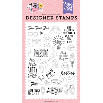 Echo Park YOU GLOW GIRL Clear Stamps tsg184040
