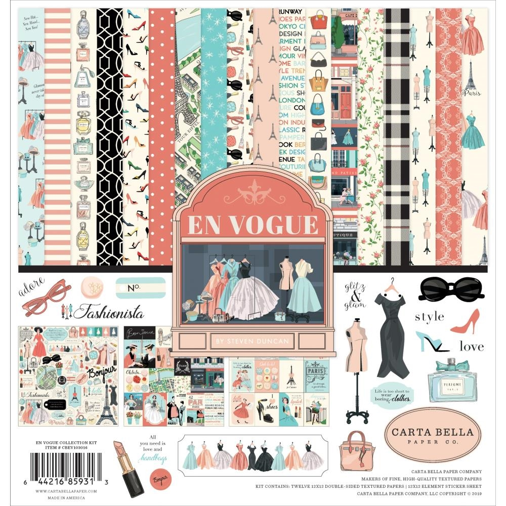 Carta Bella EN VOGUE 12 x 12 Collection Kit cbev103016 zoom image