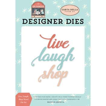 Carta Bella LIVE LAUGH SHOP Dies Set cbev103040