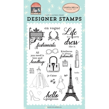 Carta Bella FASHIONISTA Clear Stamp Set cbev103041