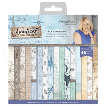 Crafter's Companion NAUTICAL 6 x 6 Paper Pad s-naut-pad6