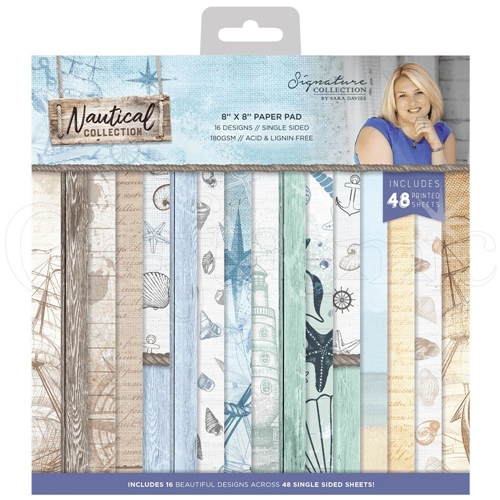 Crafter's Companion NAUTICAL 8 x 8 Paper Pad s-naut-pad8 Preview Image