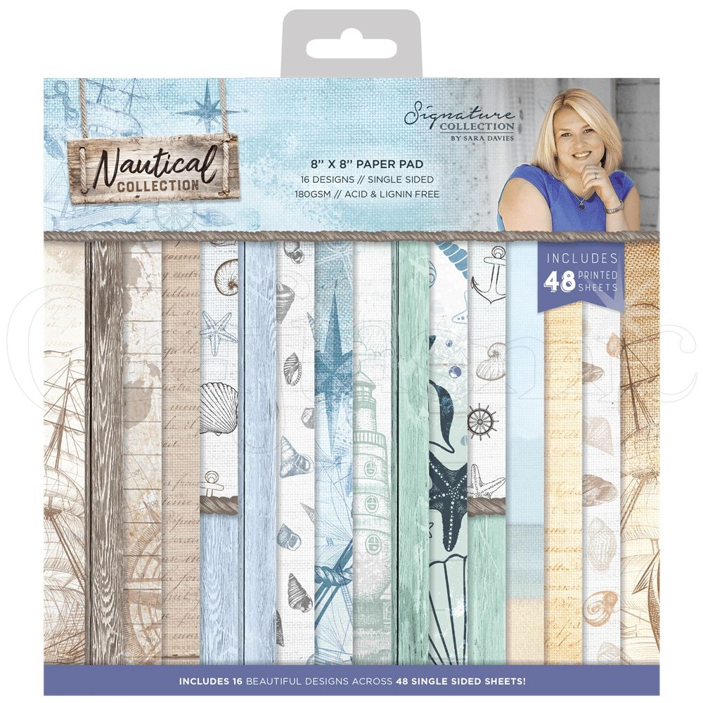 Crafter's Companion NAUTICAL 8 x 8 Paper Pad s-naut-pad8 zoom image