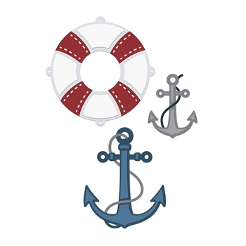 Crafter's Companion ANCHORS AWEIGH Nautical Die Set s-naut-md-anaw