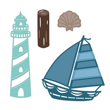 Crafter's Companion BY THE SEA Nautical Die Set s-naut-md-bts
