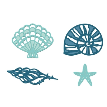 Crafter's Companion FANCY SHELLS Nautical Die Set s-naut-md-fash