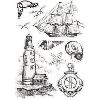 Crafter's Companion NAUTICAL ELEMENTS Clear Stamp Set s-naut-st-nael