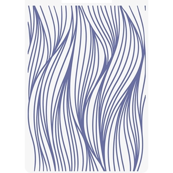 Crafter's Companion OCEAN WAVES Embossing Folder Nautical s-naut-ef5-ocwa